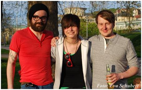 v.l.n.r.: Sascha, Arabell & Becks