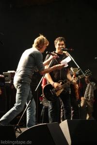 Die Toten Hosen beim Soundcheck mit der Band Attaque am 11/09/12 - Foto: Arabell Walter