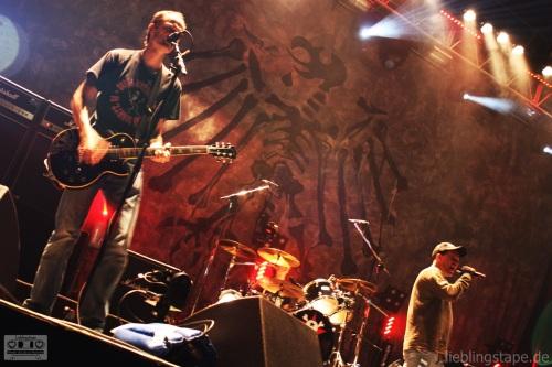 Die Toten Hosen mit Pil beim Soundcheck am 15/09/12 - Foto: Arabell Walter