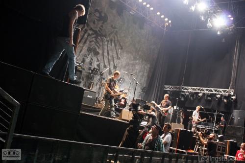 Die Toten Hosen am 15/09/12 beim Soundcheck - Foto: Arabell Walter
